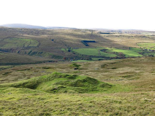 Old mine shafts and spoil heaps on Windy Brow