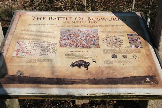 Information board, Battle of Bosworth