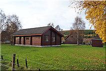 NJ1636 : Ballindalloch Lodges by Anne Burgess