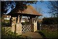 SK8331 : Harston's Lych Gate by Bob Harvey