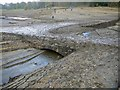 SK1888 : Remains of a bridge in the lost village of Derwent, usually submerged by the Ladybower Reservoir : Week 47