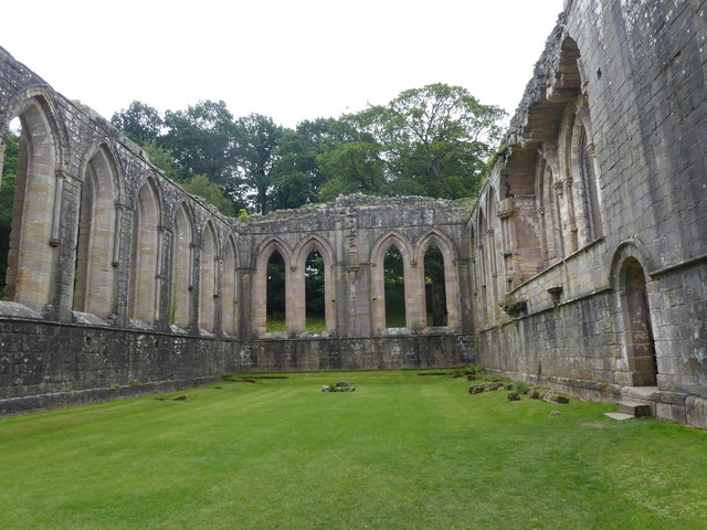 The refectory at Fountains Abbey