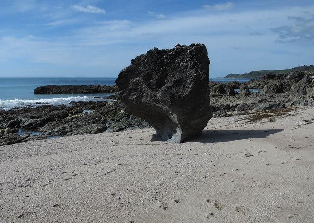 Rock on Great Mattiscombe Sand