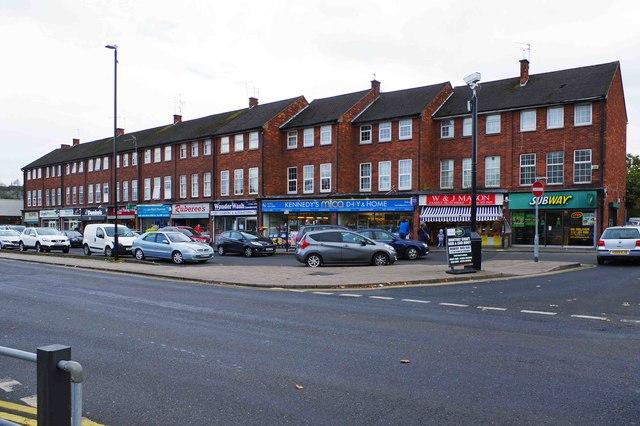Parade of shops, New Road, Rubery, near Birmingham