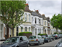 TQ2775 : Houses on Mysore Road, SW11 by Robin Webster