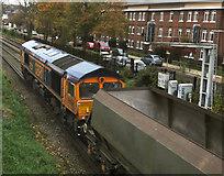 TQ1977 : Freight train near Chiswick by Paul Harrop