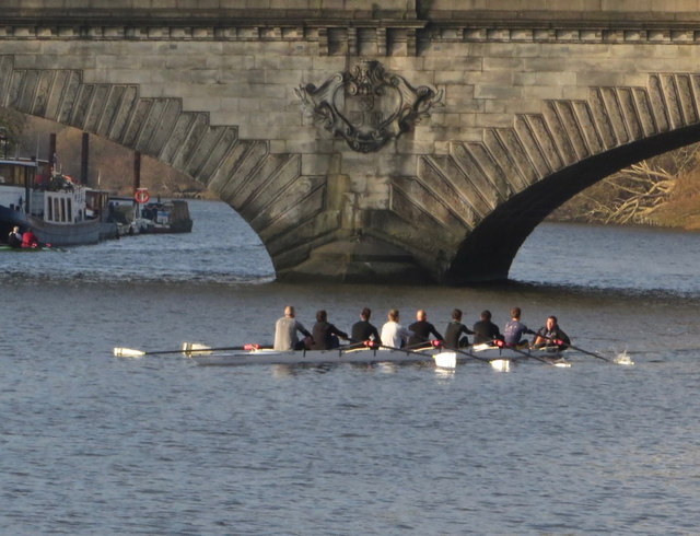 Rowers on the Thames near Kew