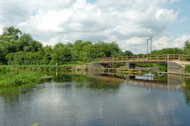 River and canal near Mountsorrel in Leicestershire