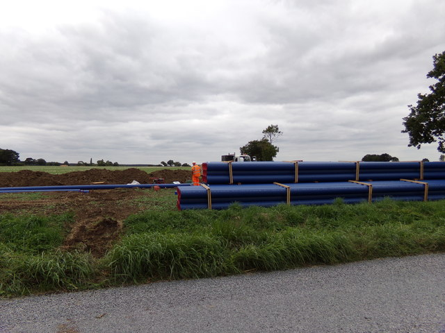Water Pipes awaiting installation