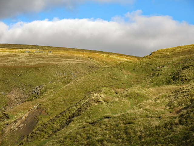 Moorland around the cleugh of Darn Gill