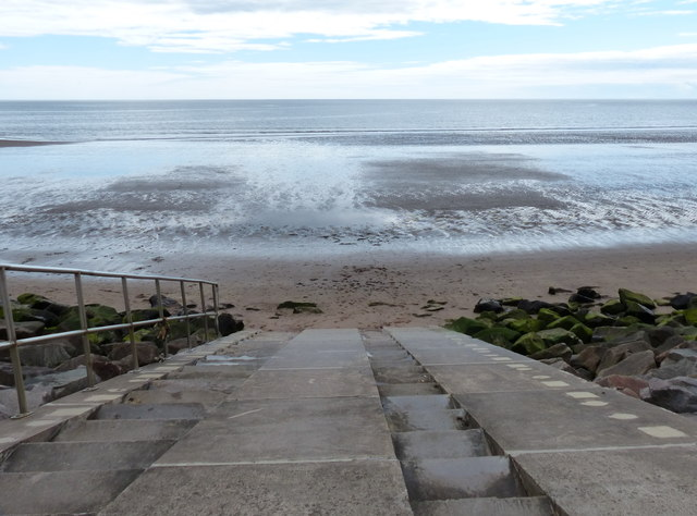 Steps down to Carnoustie Beach