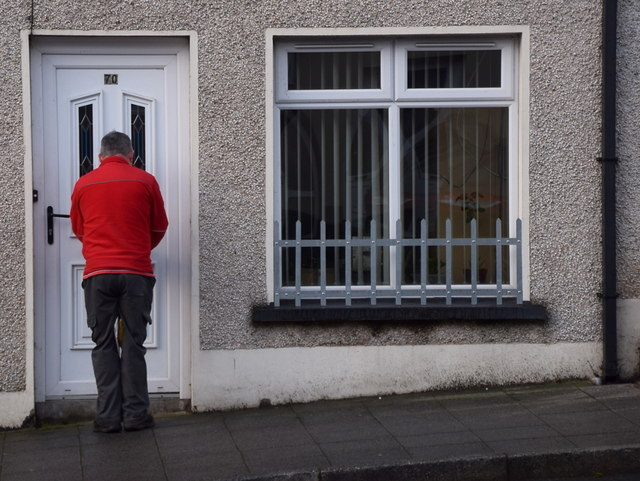 Delivering a package, Main Street, Ballygawley