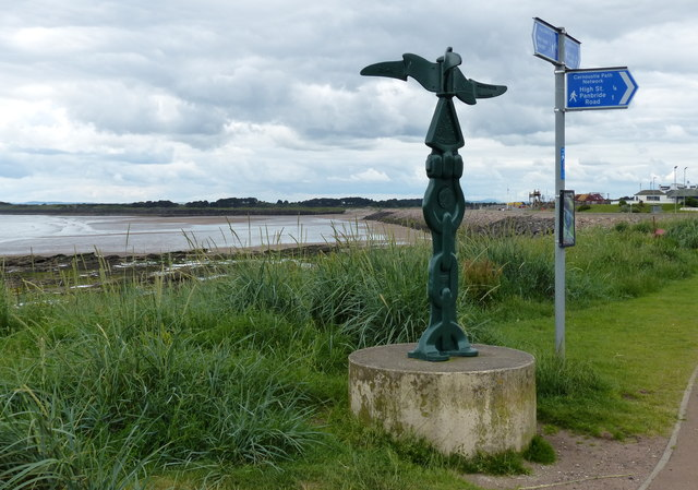 National Cycle Network sign at Carnoustie