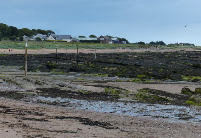Beach and rocks at West Haven, Carnoustie