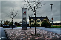 """H6257 : """"Love Life Hope"""" sculpture, Ballygawley (1) by Kenneth  Allen"""