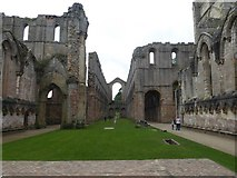 SE2768 : Looking towards the Nave of Fountains Abbey by Marathon
