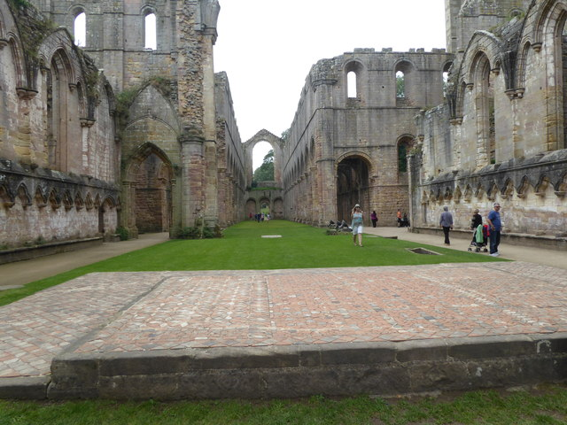 Looking towards the Nave of Fountains Abbey