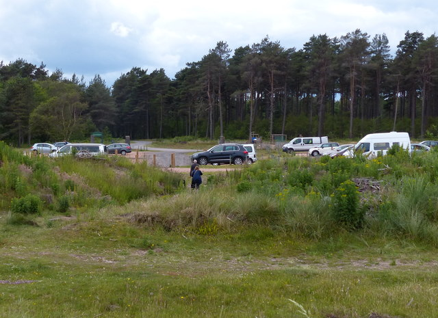 Car park at the Tentsmuir National Nature Reserve