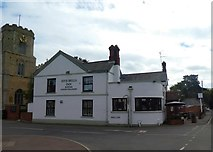 TF5002 : Five Bells inn, Upwell and the church tower by David Smith