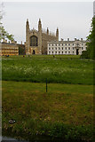 TL4458 : The Backs, Cambridge: King's College and its Chapel by Christopher Hilton