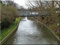 TQ2387 : Bailey bridge over River Brent by Robin Webster