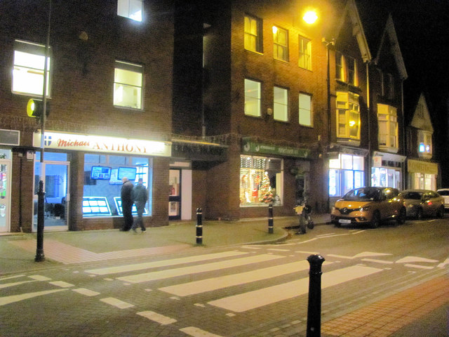 The Zebra Crossing by the Library in the High Street, Tring