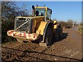 SO8441 : Earthmover at gravel extraction site by Philip Halling