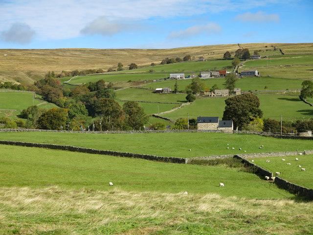 Farmland below Poperd Hill