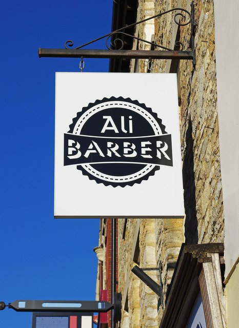 Ali Barber (2) - sign, 31a Market Place, Witney, Oxon