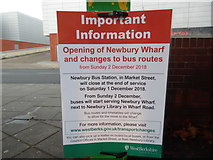SU4766 : Closure Notice at Newbury Bus Station by David Hillas