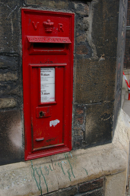 Postbox at the entrance to Queens' College