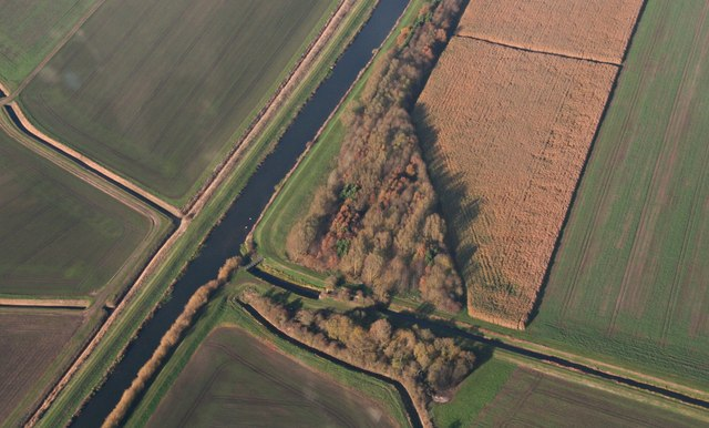 Caistor Canal Lock and River Ancholme: aerial 2018 (2)