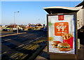 ST3090 : McDonald's advert on a Malpas Road bus shelter, Newport by Jaggery