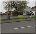 SS8880 : Queen Elizabeth II postbox and a Royal Mail drop box in suburban Bridgend by Jaggery