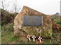 SJ2485 : A 2016 commemorative stone on Thurstaston Common by John S Turner