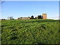 NY3871 : Kirkandrews Tower and farm by Jonathan Thacker