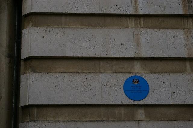 Alan Turing plaque, Trumpington Street, Cambridge
