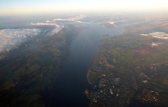 The Firth of Clyde from the air