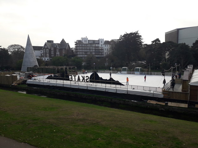 Bournemouth: the Christmas skating rink in 2018