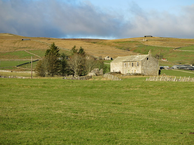 Farmland around Low Rigg