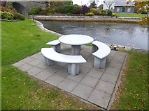 N3059 : Canalside picnic table at Ballynacarrigy by Oliver Dixon