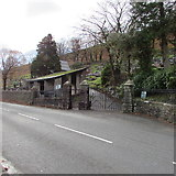 SS9389 : Northern entrance to Pwllypant Cemetery, Ogmore Vale by Jaggery