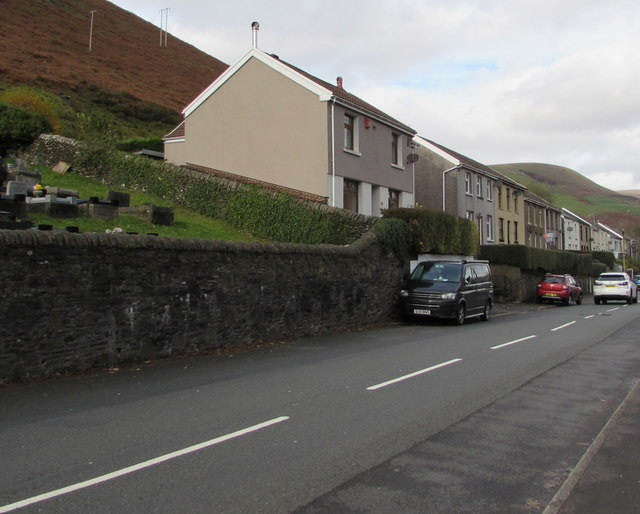 Cemetery Road houses, Ogmore Vale