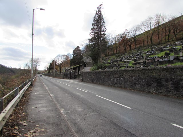 South along Cemetery Road, Ogmore Vale