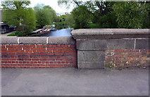 SK5907 : River Soar seen over NE parapet of New Bridge (Loughborough Road) by Roger Templeman