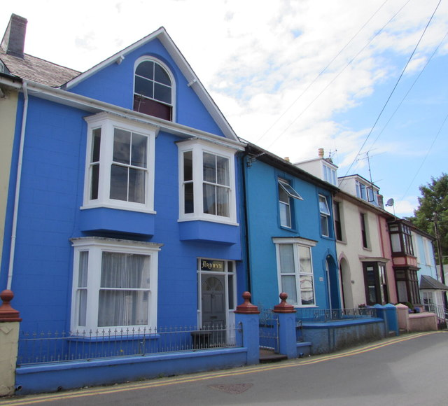 Shades of blue in New Quay