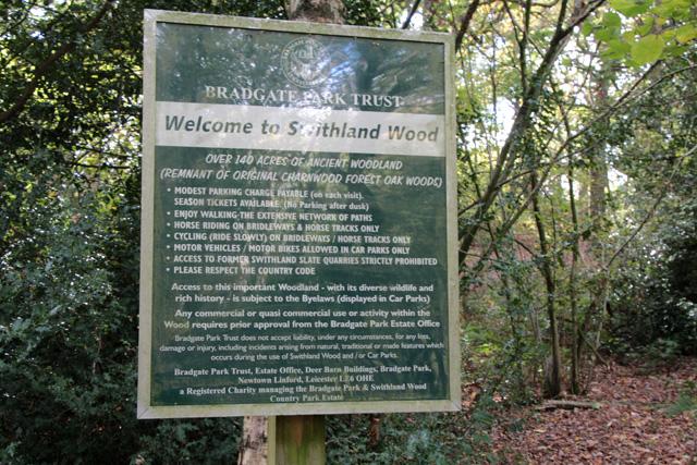 Swithland Wood information board