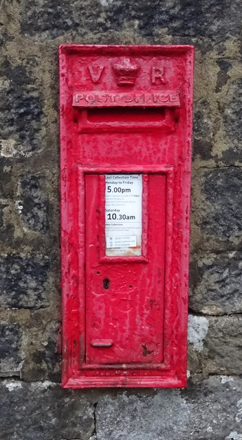 Victorian postbox on the B6451, Farnley