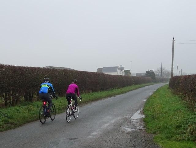 Cyclists on Castley Lane