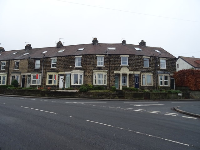Terraced housing on Main Street, Pool in Wharfedale